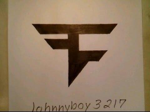 How To Draw FaZe Clan Logo Sign Symbol Emblem Easy Step By Step Tutorial