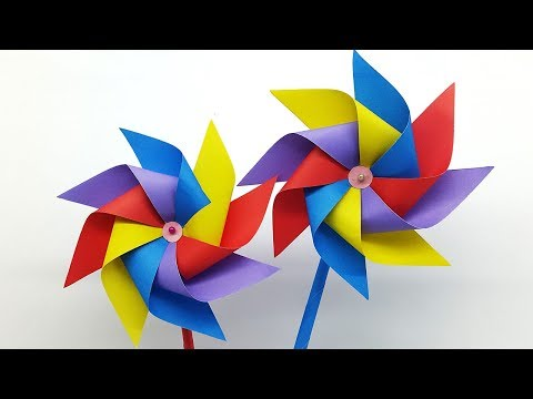 How to make a Paper Windmill for Kids - Windmill making Tutorial (Pinwheel)