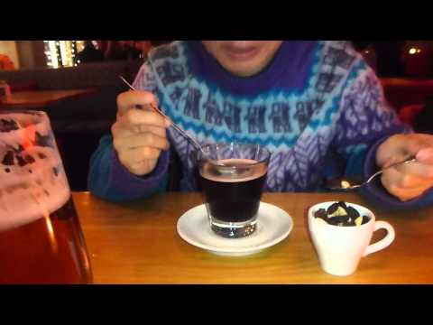 Drinking Glogg in Drottninghof in Stockholm   Sweden   January 2015