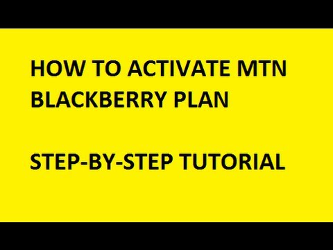MTN Blackberry subscription and activation code.