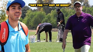 Stealing Angry Golfers Balls Prank! (CHASED OUT)