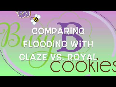 Comparing Glaze and Royal Icing When Flooding And Detailing Cookies