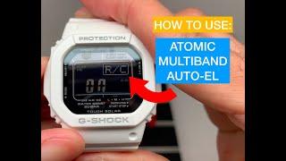 How to Use Atomi, Multiband, auto EL G-Shock Casio GWM5610MD-7 WHITE Solar Watch
