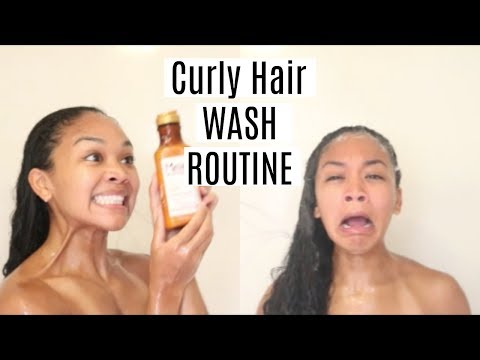 My Curly Hair Wash Routine | In the Shower