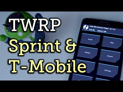 Install TWRP Custom Recovery on the Sprint & T-Mobile Samsung Galaxy Note 3 [How-To]