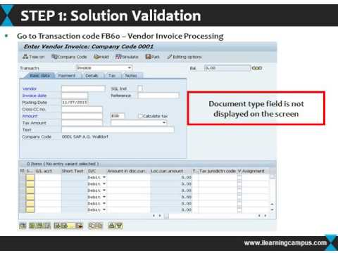 SAP FI Tips and Tricks Selecting Document Type for FI Invoice Processing
