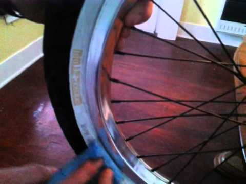 Cleaning white wall bmx tires