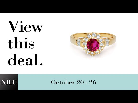 Deal of the Week: 18kt Yellow Gold Ruby and Diamond Ring