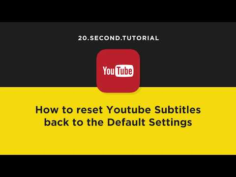 Reset subtitles to default settings in YouTube | YouTube Tutorial #15