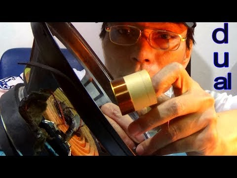 How to recone and repair a speaker or  voice coil, Even the Blown Speaker was torn