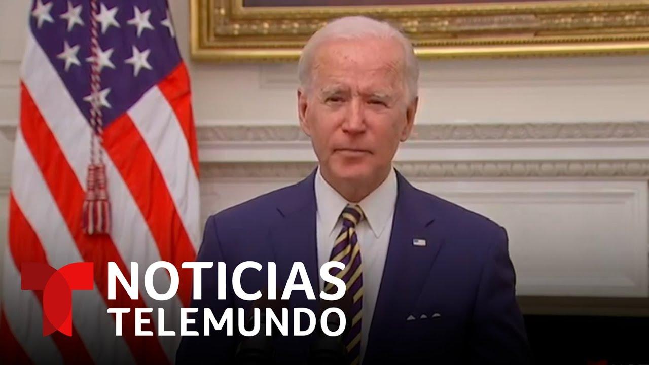 EN VIVO: Biden ordena acelerar la entrega de cheques de ayuda y más cupones de alimentos   Telemundo