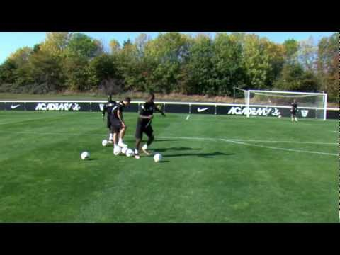 Soccer shooting exercise   Combination play drill   Nike Academy