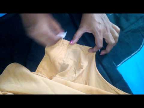 saree blouse cutting and stitching tutorial easy method