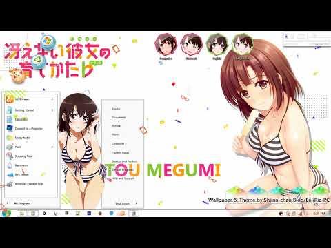 Windows 7 Theme Saekano   Katou Megumi