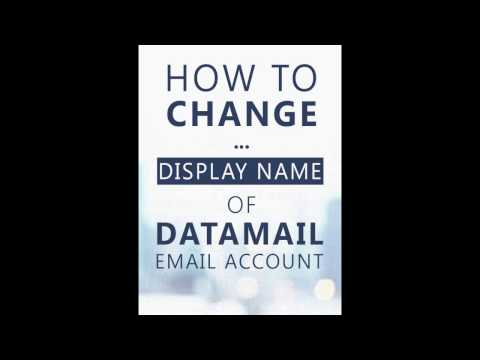 How To Change Display Name Of DataMail Email Account