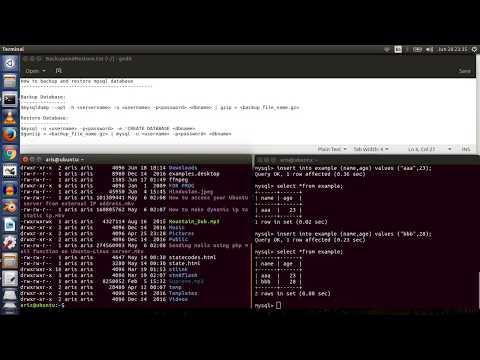 How To Backup And Restore MYSQL Database on Ubuntu Linux Server