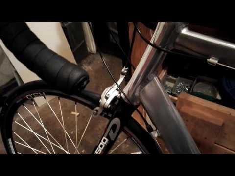 Stripped and polished aluminium bike frame