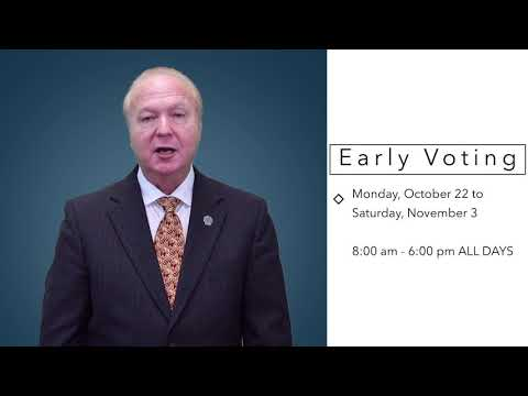 Early Voting Reminder!