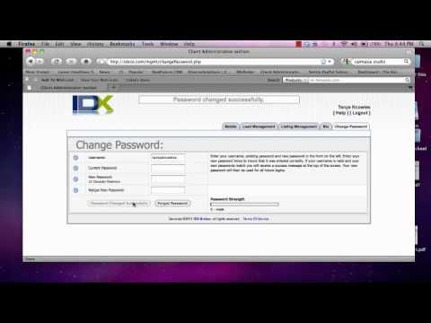 Login, Change Password, and How to use the iPad App