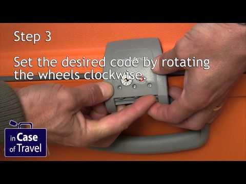 How to set the lock code on a Samsonite Aeris basic (with New TSA Lock) and Aeris Comfort