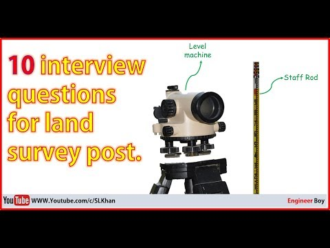 top 10 interview questions for land surveyor post