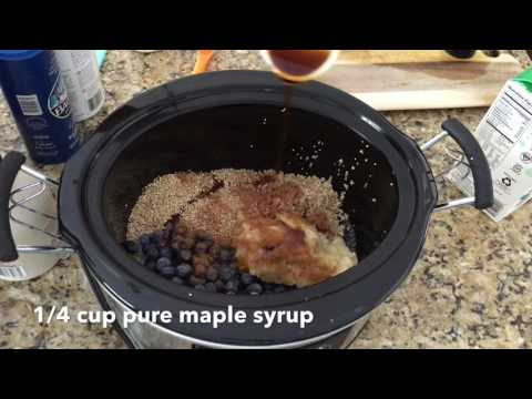 Slow Cooker Blueberry and Banana Steel Cut Oatmeal Recipe