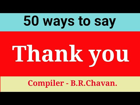 50 ways to say 'Thank you'