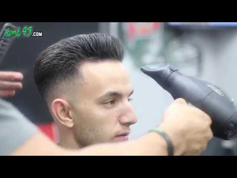 Scissor haircut Tutorial with fade and styling!