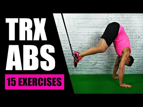 15 BEST TRX EXERCISES FOR ABS | TRX Suspension Training Core Exercises For Lower Abs + Love Handles