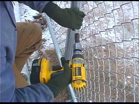 Easy Twist Ties are perfect for small commercial chain link job