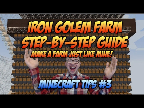 Minecraft: Iron Golem Spawner Farm Tutorial - Minecraft Tips #3