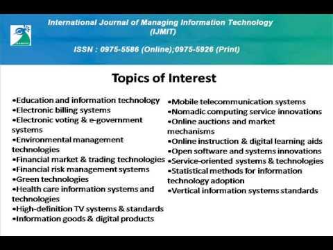 International Journal of Managing Information Technology