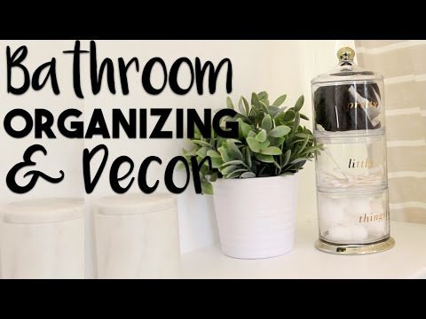 INTERIOR DESIGN: Bathroom Organization and Decorating Hacks | Making the MOST of our Small Bathroom