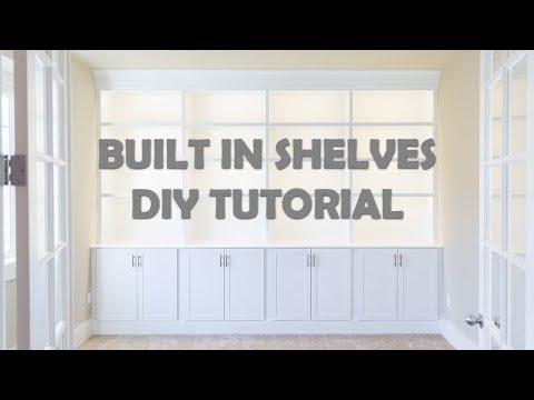 DIY Built In Shelves Tutorial | Base | Cabinets | Part I