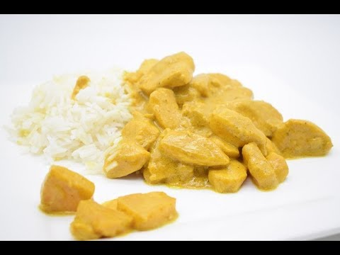 Chicken with pineapple curry sauce
