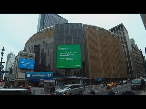 Madison Square Garden In New York - Exteriors and Surrounding Streets