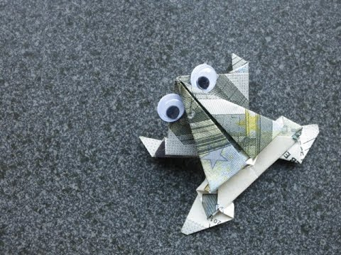 origami - action origami - jumping frog - tutorial - dutchpapergirl