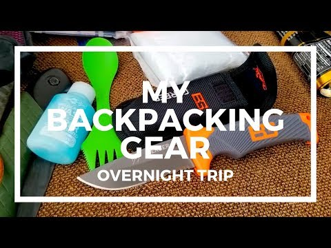 My Backpacking Gear Overnight Trip