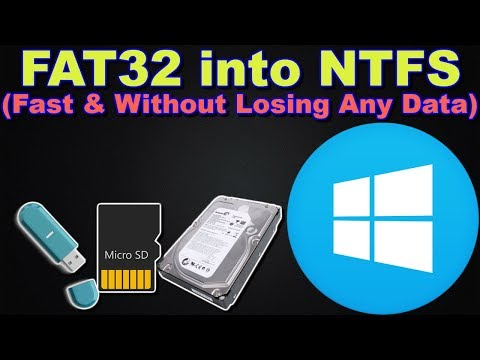 Convert Fat32 to NTFS Fast and Without Losing Any Data