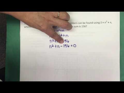 A.8A Solving Quadratic Equations by Factoring - Part I