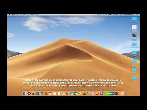 HOW TO CHANGE DESKTOP ICON LABEL POSITION IN MAC OS MOJAVE