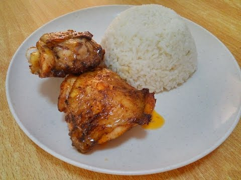 Simple Roasted Chicken with Chicken Rice