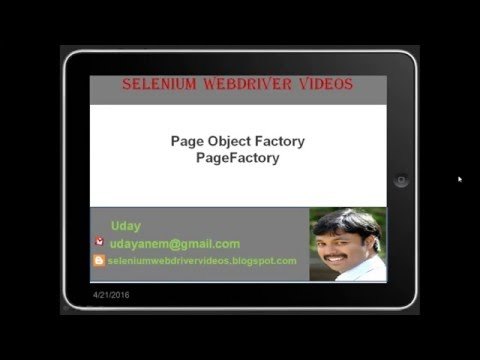 [Selenium WebDriver Videos]: What is PageFactory - Part1