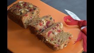 Egg-less Orange Fruit Cake Recipe | Without Oven | Without Hand Blender | English Subtitles