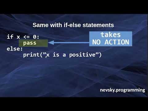Pass Statement in Python Language
