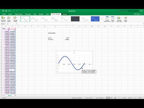 How to graph a sine wave in Excel