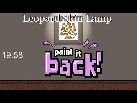 Paint it Back - Leopard Skin Lamp time lapse done in 19:58