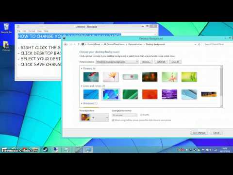 How To Change Your Wallpaper - Windows 8