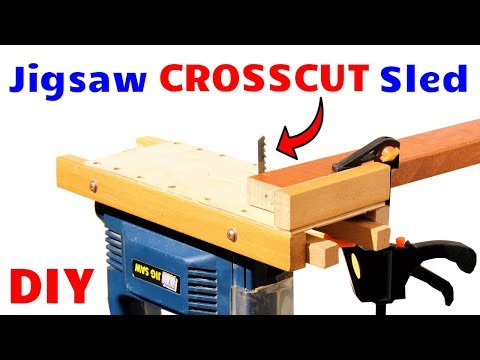 DIY Jigsaw Crosscut Sled! - Perfect Jigsaw Cuts Every Single Time!