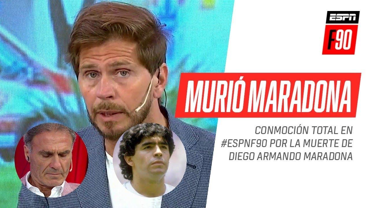 Conmoción total en #ESPNF90 por la muerte de Diego #Maradona